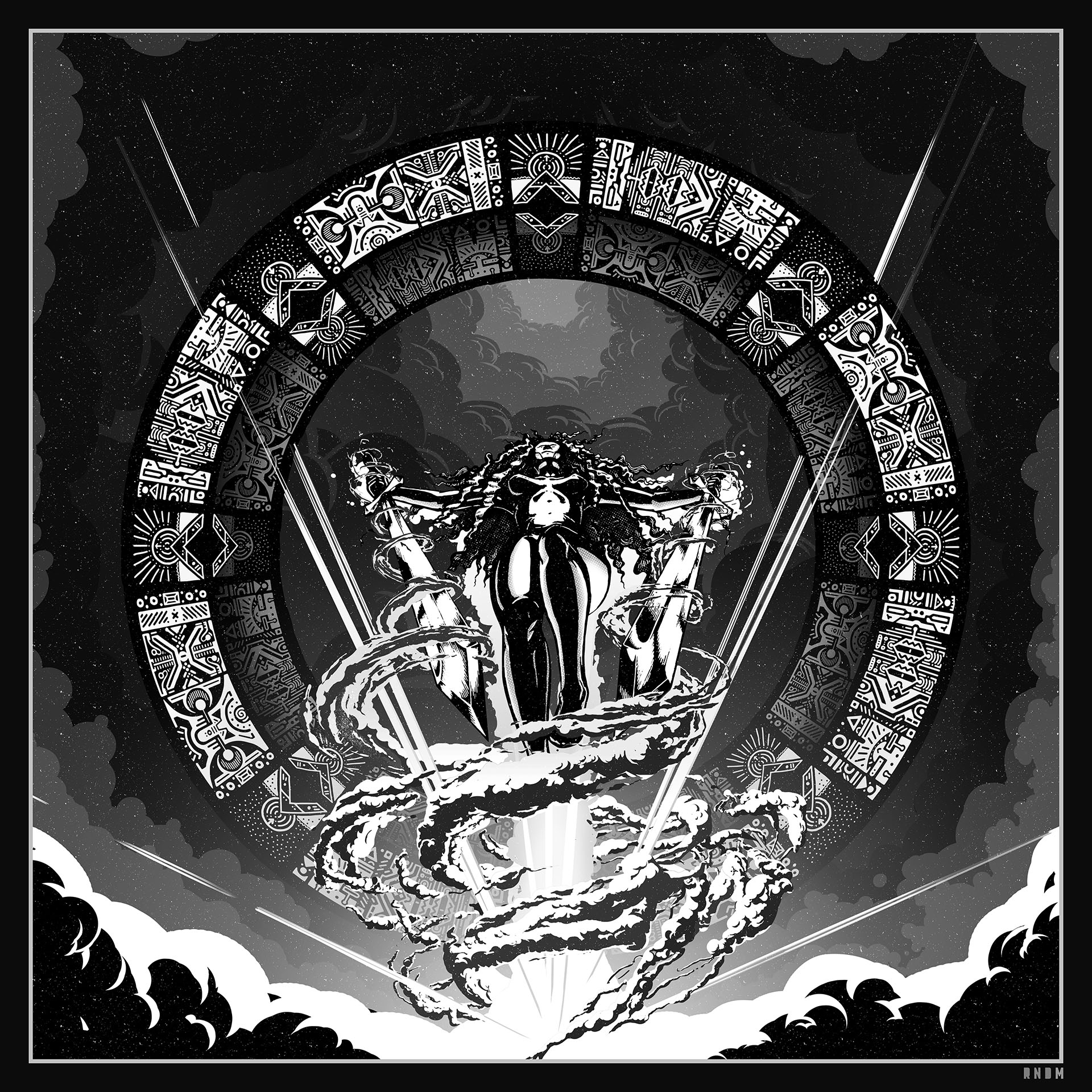 Runes of the Witch Knight grayscale